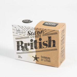 Savon à la bière british chanvre et litchi de Belle à Croquer