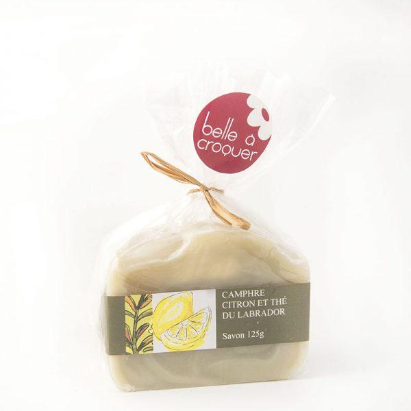 Savon camphre, citron et thé du Labrador de Belle à Croquer
