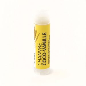 Baume à lèvres chanvre coco-vanille de Belle à Croquer