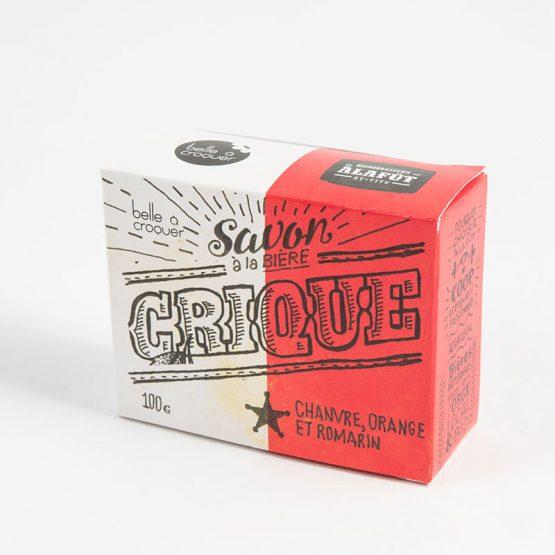 Savon à la bière crique chanvre, orange et romarin de Belle à Croquer