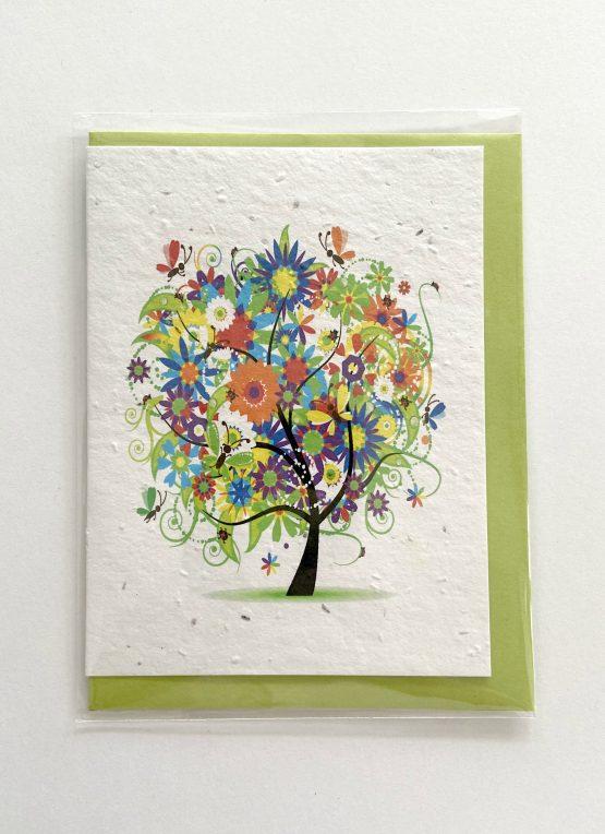 Carte arbre fleuri