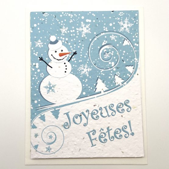 bonhomme de neige fond bleu