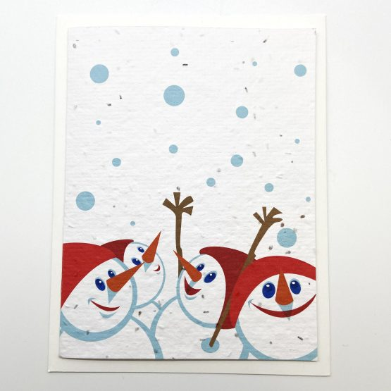 bonhommes de neige fond blanc