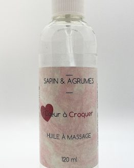 Huile massage coeur à croquer