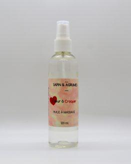 huile à massage coeur à croquer